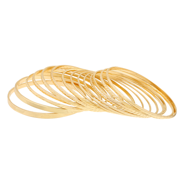 Gold Plated Layered Metal Bracelets