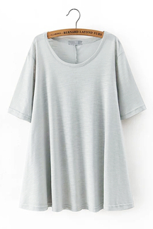 Side Split T-shirt in Mint-green