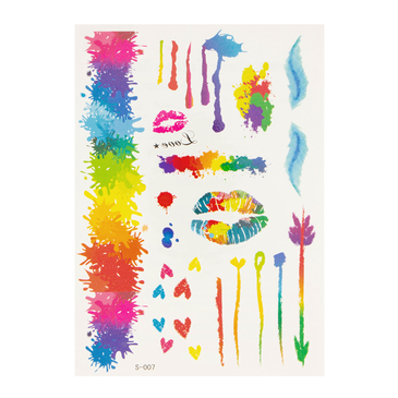Creative Graffiti Metallic Temporary Tattoo Sticker
