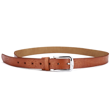 Cattlehide Embossed Waist Belt