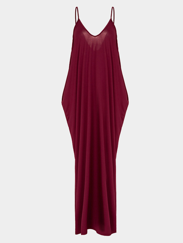 Loose Sexy Backless Sleeveless Straps Summer Maxi Dress