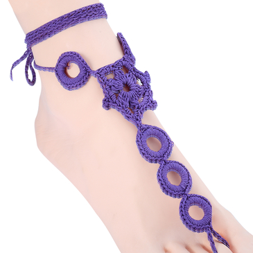 Hollow Out Details Crochet Mittens Anklets