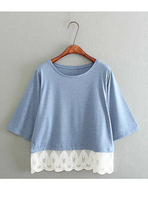 Lace Stitching T-shirt