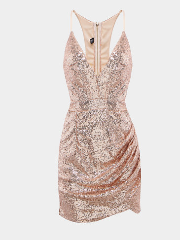 Sequin Dress with Cut Out at Back