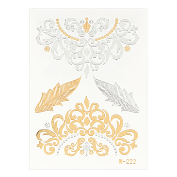 Ornate Pattern Metallic Temporary Body Tattoo Sticker