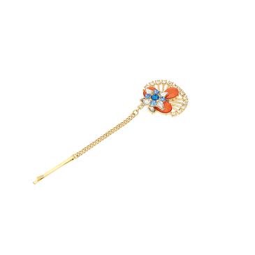 Colorful Gemstone Pendant Hair Cilp