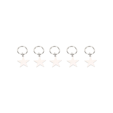 Silver Plated Five Stars Shape Hair Accessories