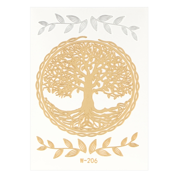 The Tree of Life Metallic Temporary Body Tattoo Sticker
