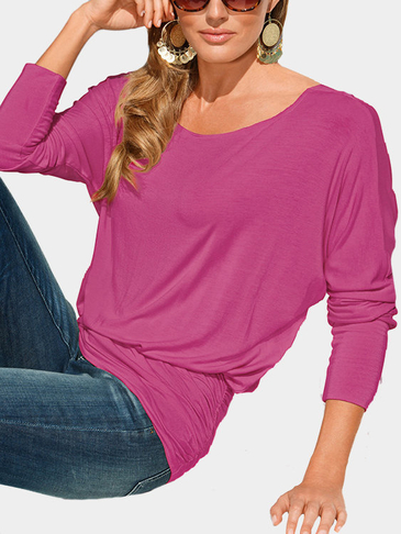 Rose Casual Round Neck Ruffled Top