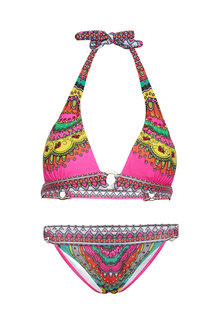 Special Printed Tied Triangle Bikini Set
