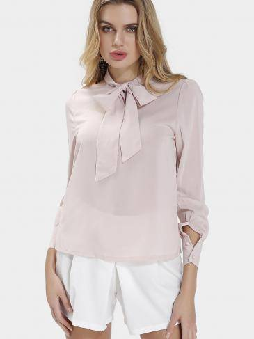 Bow High-neck Blouse
