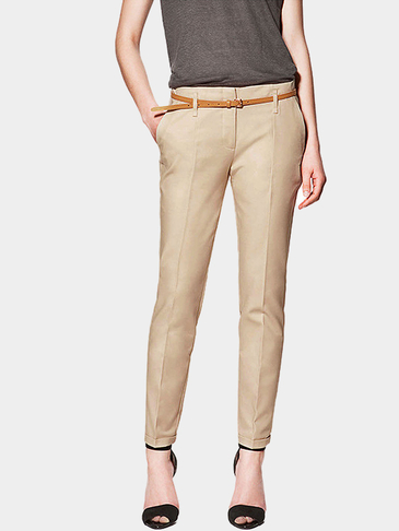Skinny Pants in Khaki