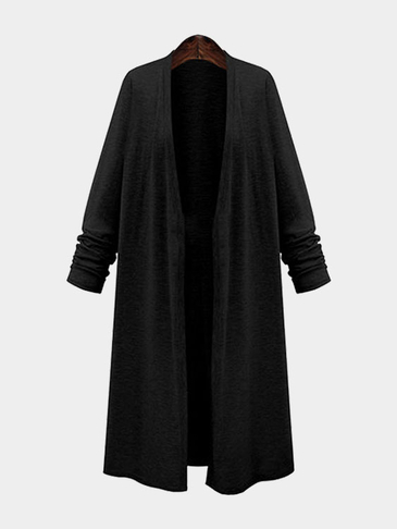 Fashion Long Length Cardigan in Black