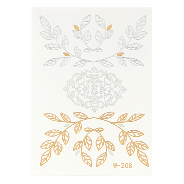 Olive Branch Metallic Temporary Body Tattoo Sticker