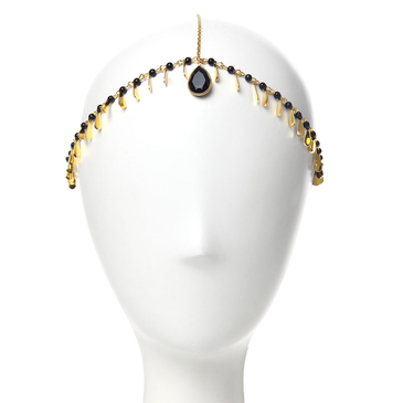 Water-Drop Pendant Beaded Head Piece