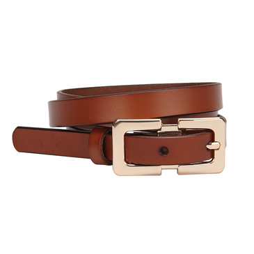 Mental Buckle Thin Belt in Brown