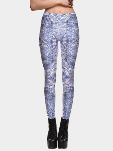 Fashion Random Floral Print Tregging Leggings