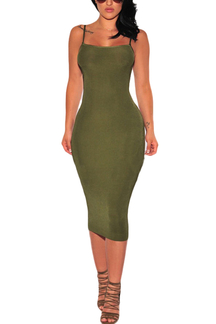 Army Green Bodycon Chic Cami Dress