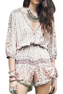 Folk Style Printed Playsuit