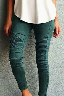 Green Side Pockets Bodycon Leggings