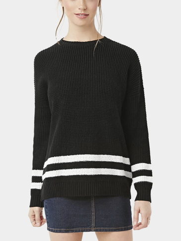 Boyfriend Stripe Knitted Jumper