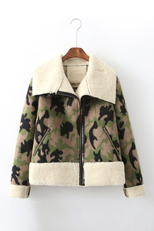 Waterfall Camo Jacket with Artificial Fur