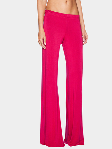Rose Red Fashion Low Waist Wide Leg Trousers