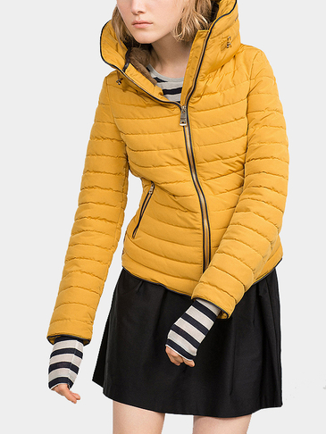 Yellow Anorak with Furry Collar