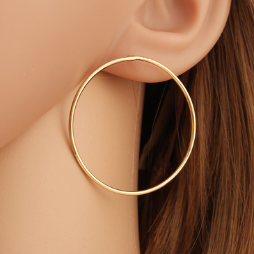 Fashion Golden Plated Geometric Circle Earrings