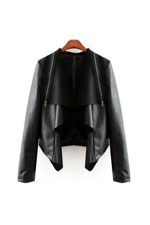 Biker Jacket with Zip Detail