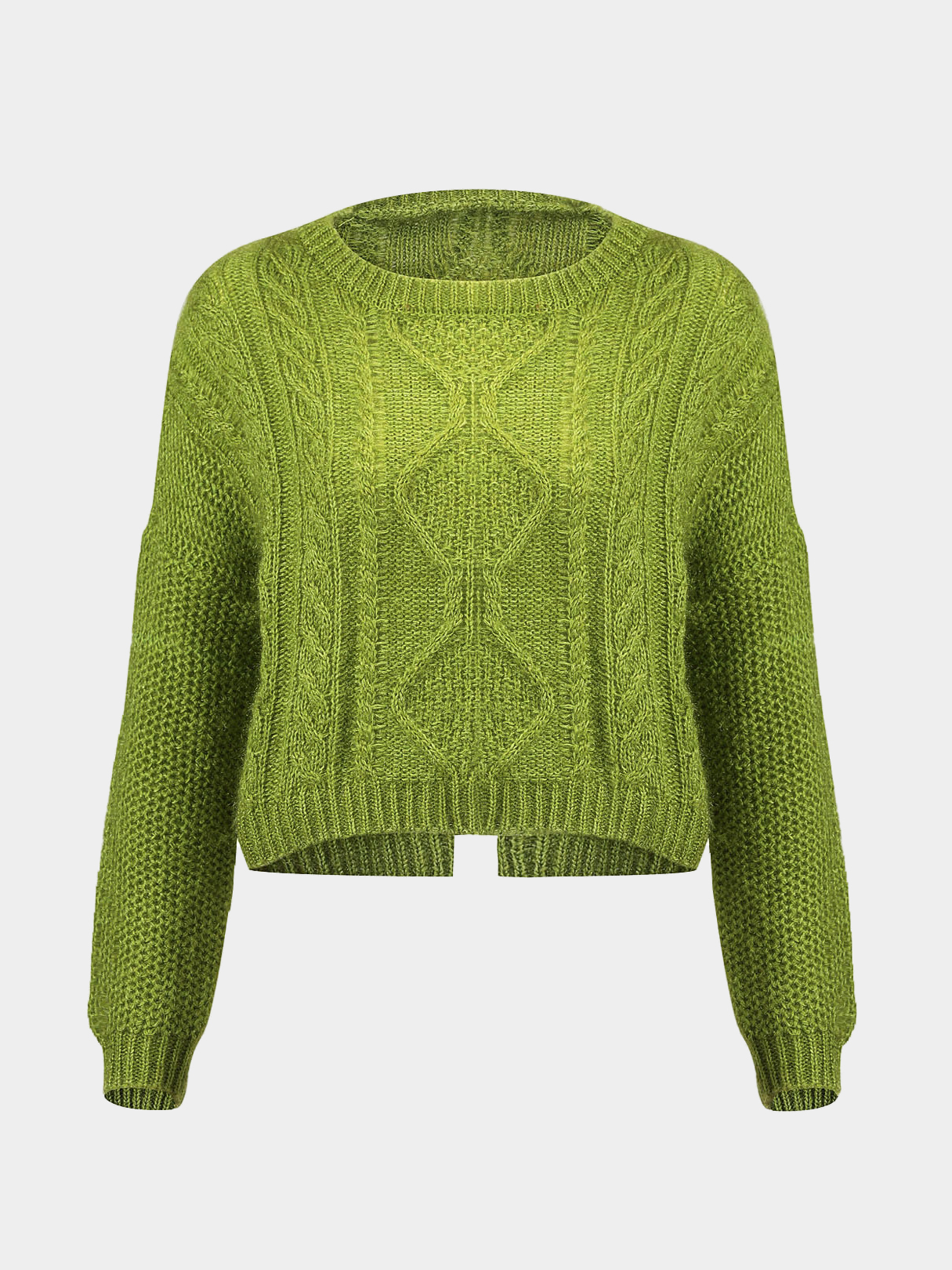 Fluffy Sweater in Green от Yoins.com INT
