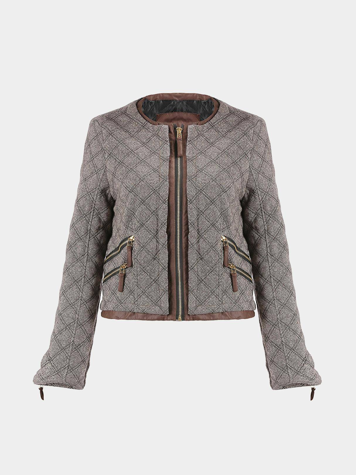 Quilted Jacket in Khaki от Yoins.com INT