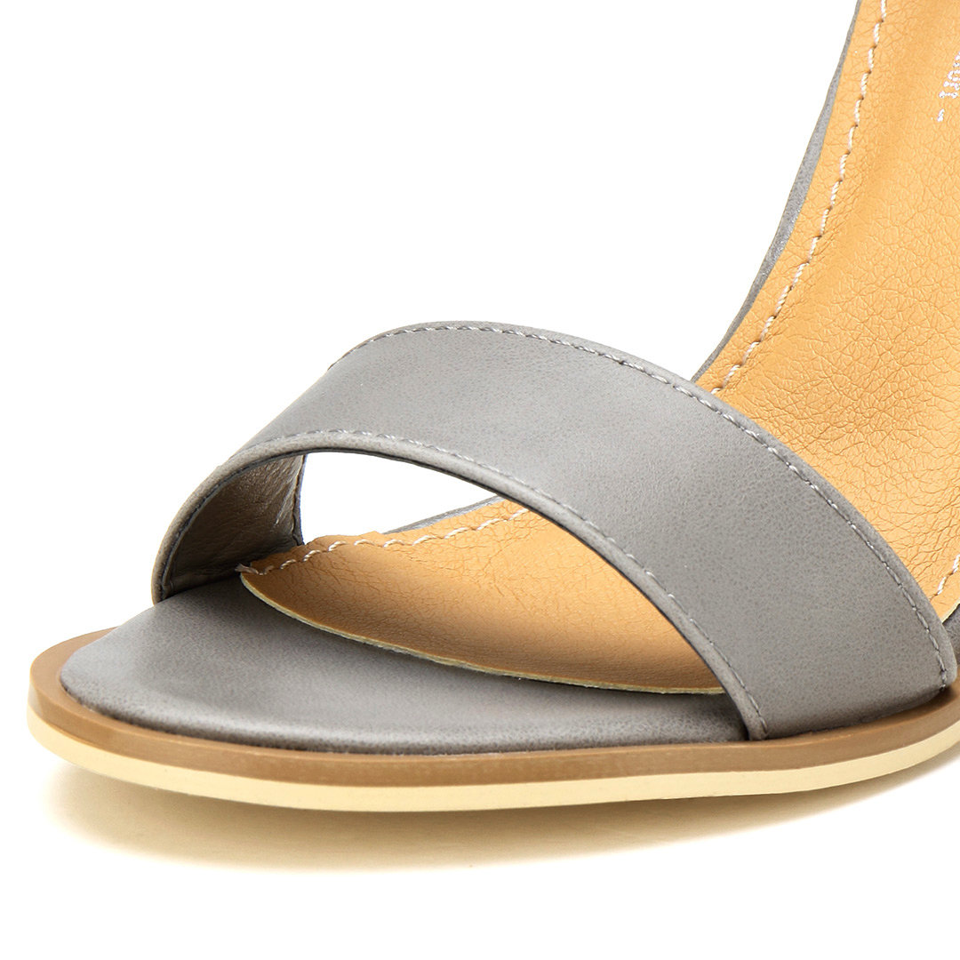 Ankle Strap Sandals In Grey от Yoins.com INT