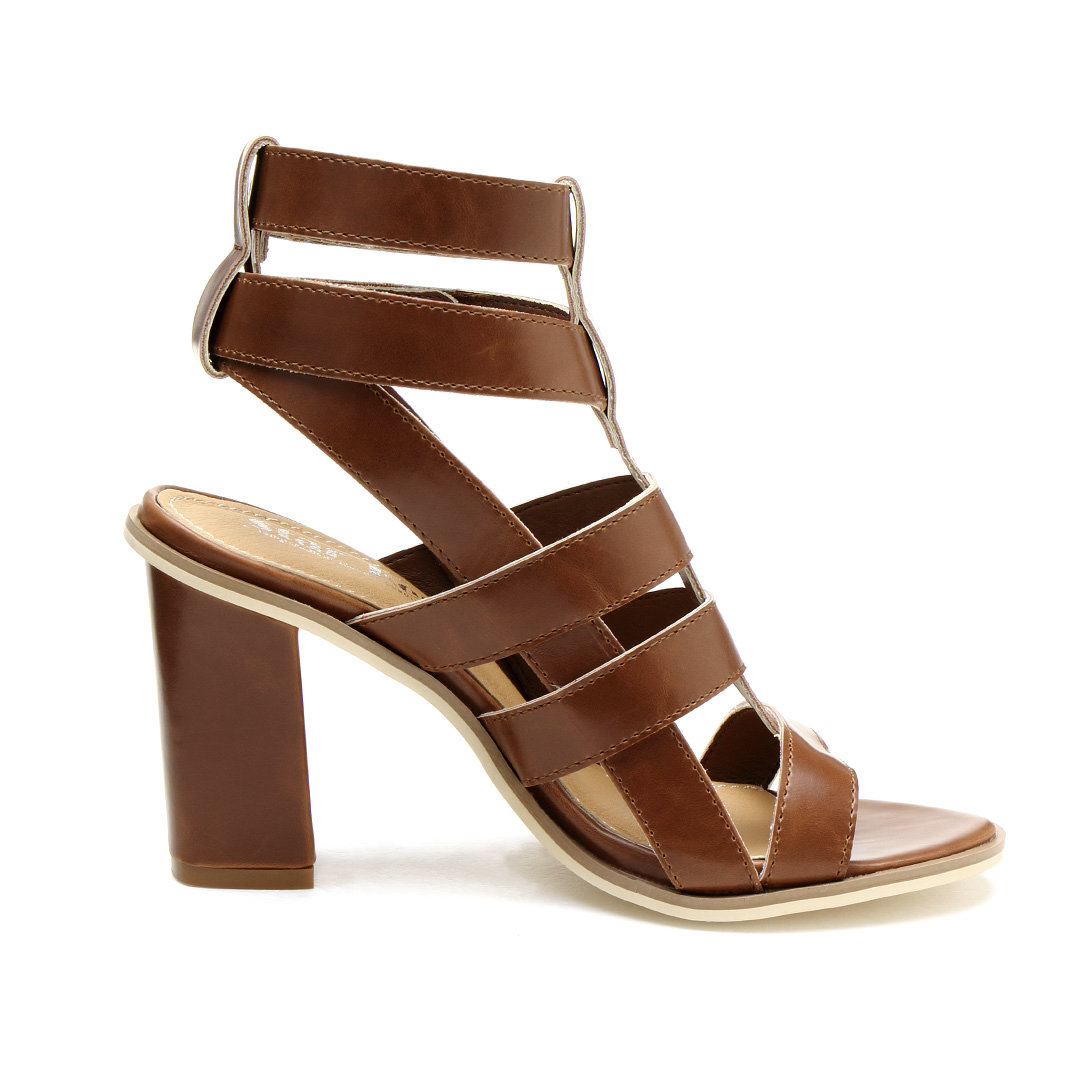 Gladiator Heeled Sandals In Brown от Yoins.com INT