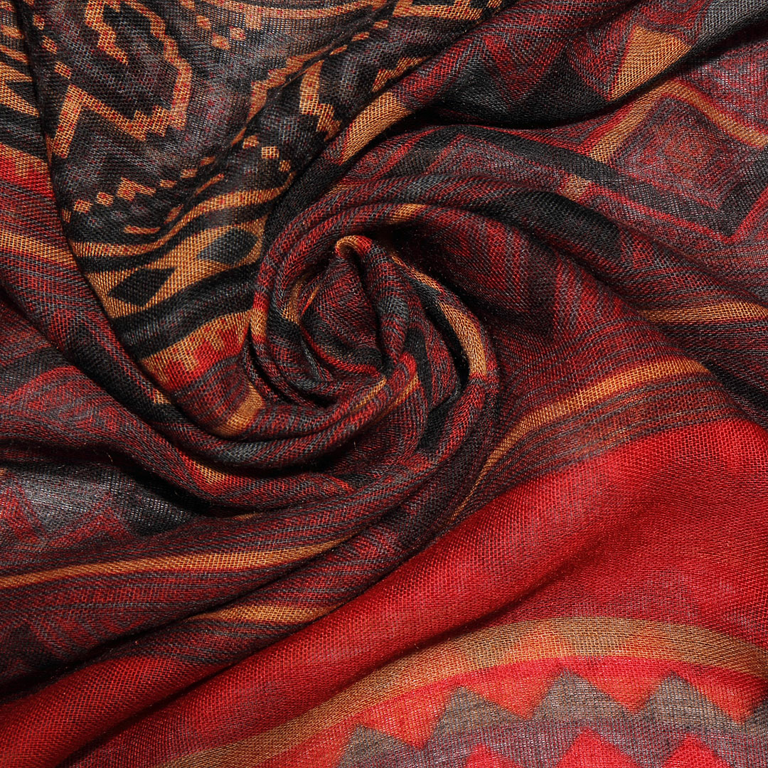 Multi Color Scarve In Stripe And Wave Print от Yoins.com INT
