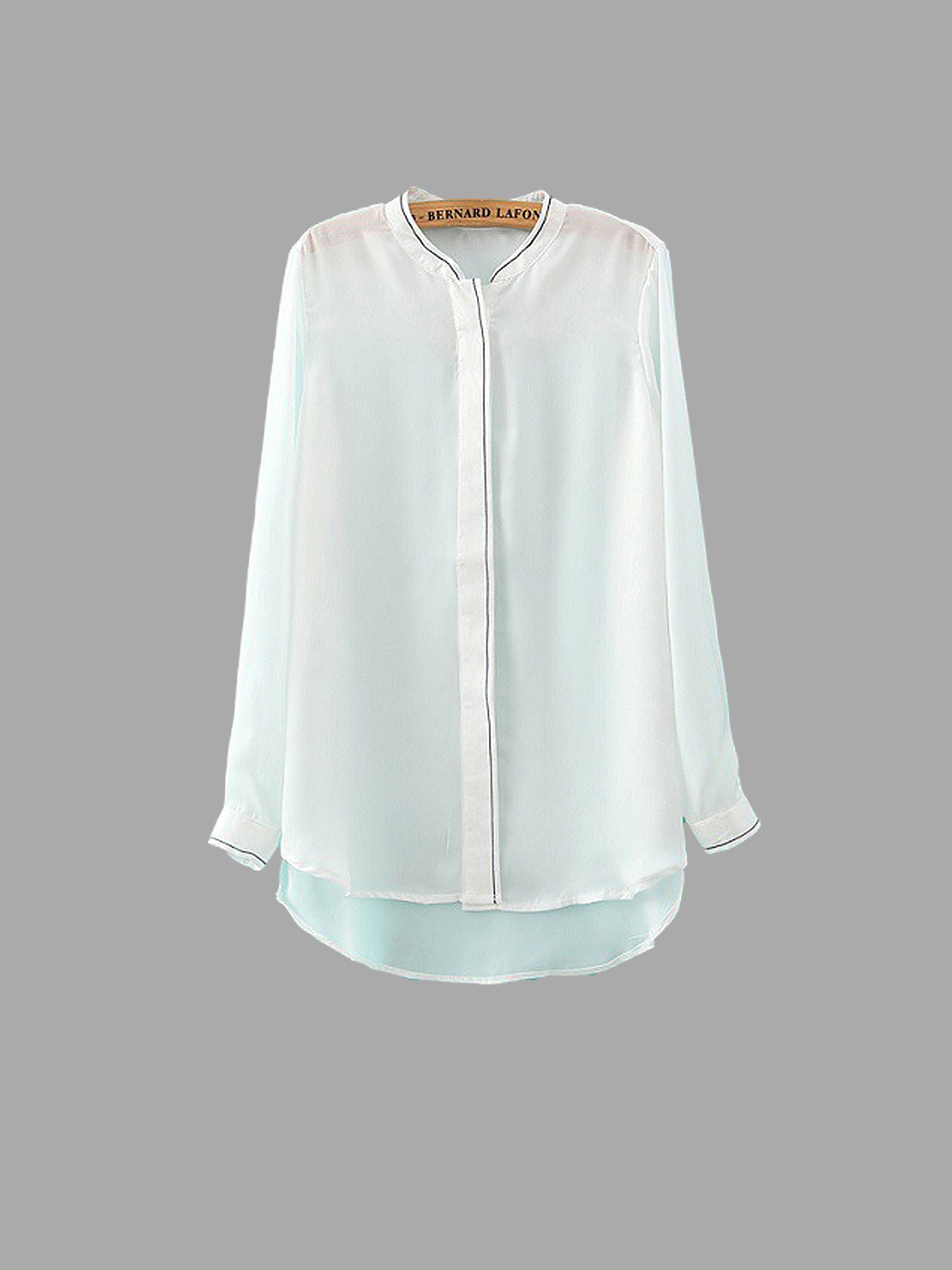 White Embroidery Shirt от Yoins.com INT