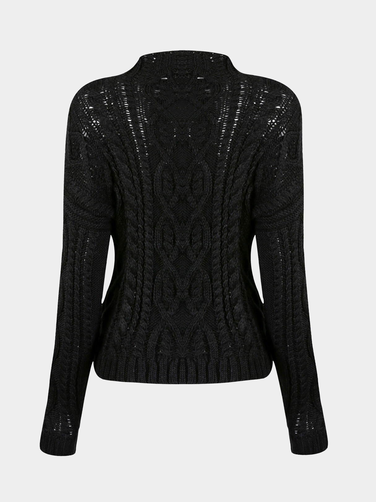 Jacquard Knit Jumper in Black от Yoins.com INT