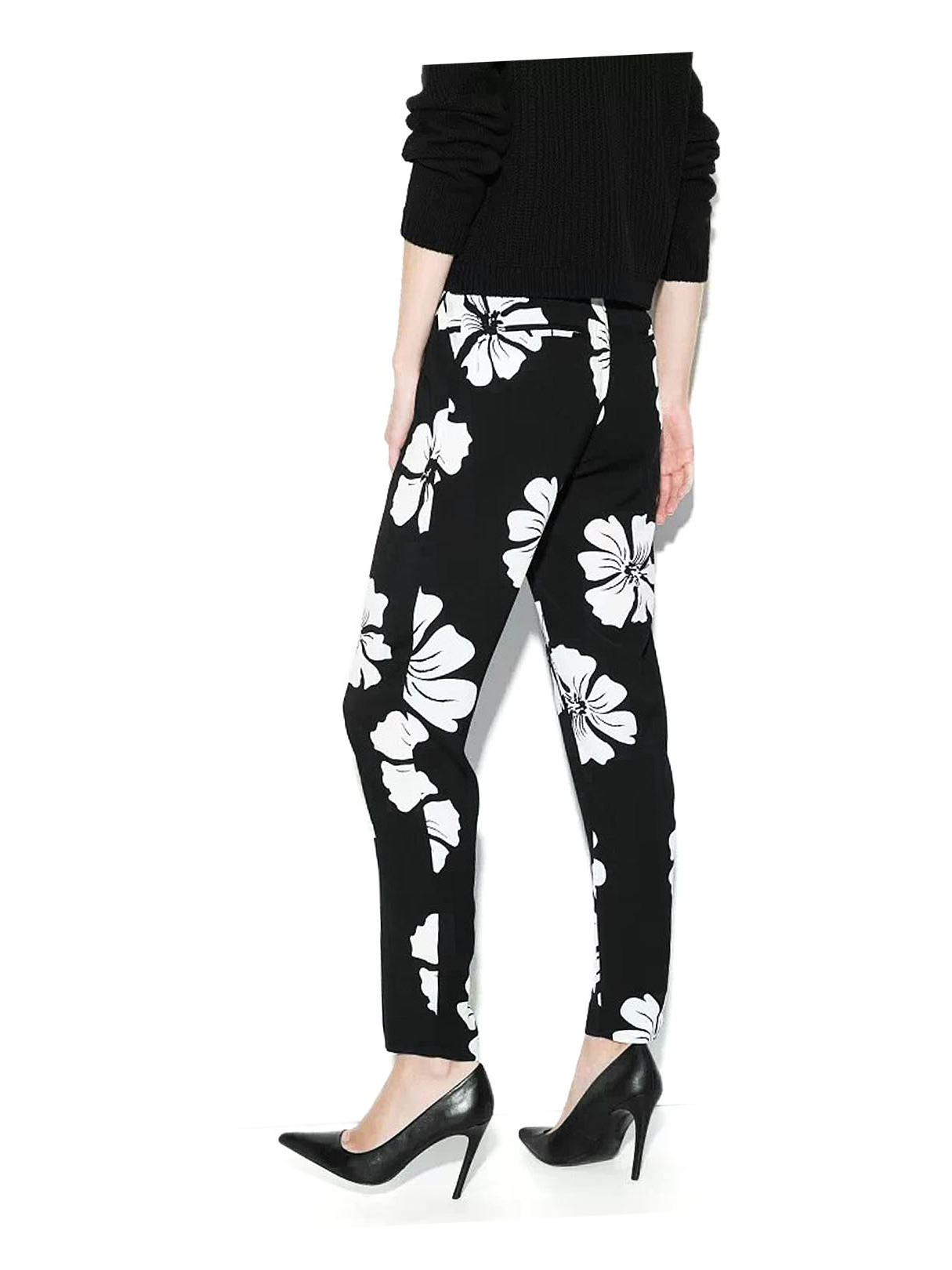 Black Trousers with White Floral Print от Yoins.com INT