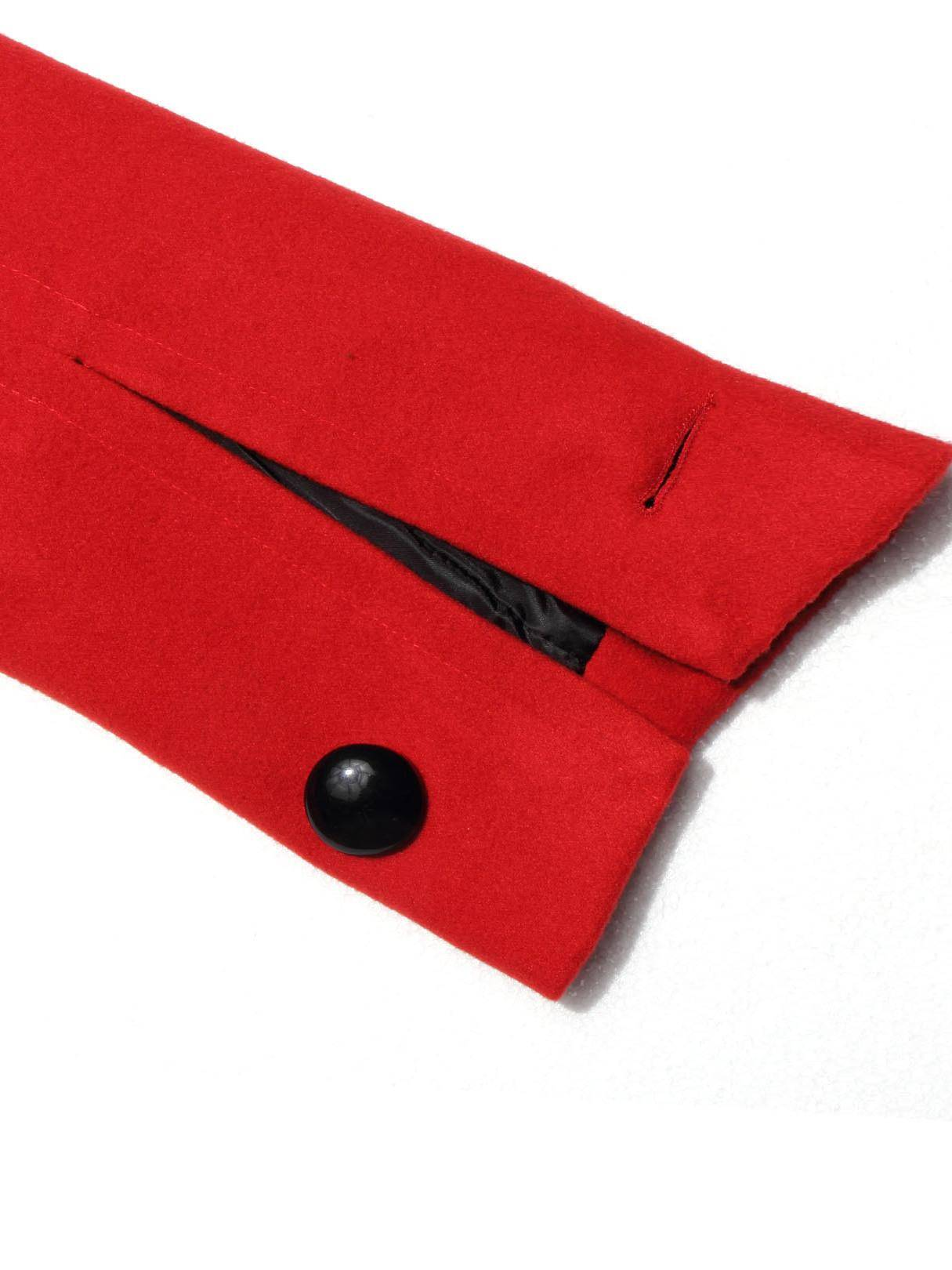 Longline Duster Coat in Red от Yoins.com INT