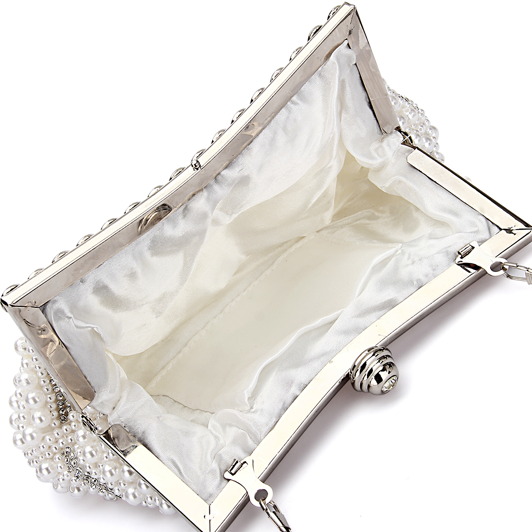 Jewelled Clutch Bag in White от Yoins.com INT