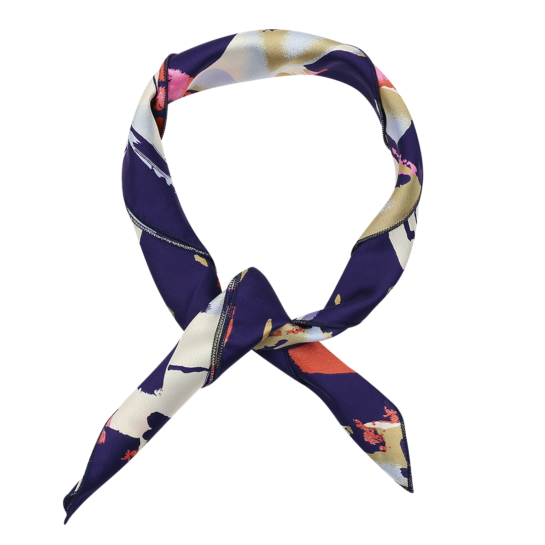 Square Silk Scarves in Floral Print Pattern