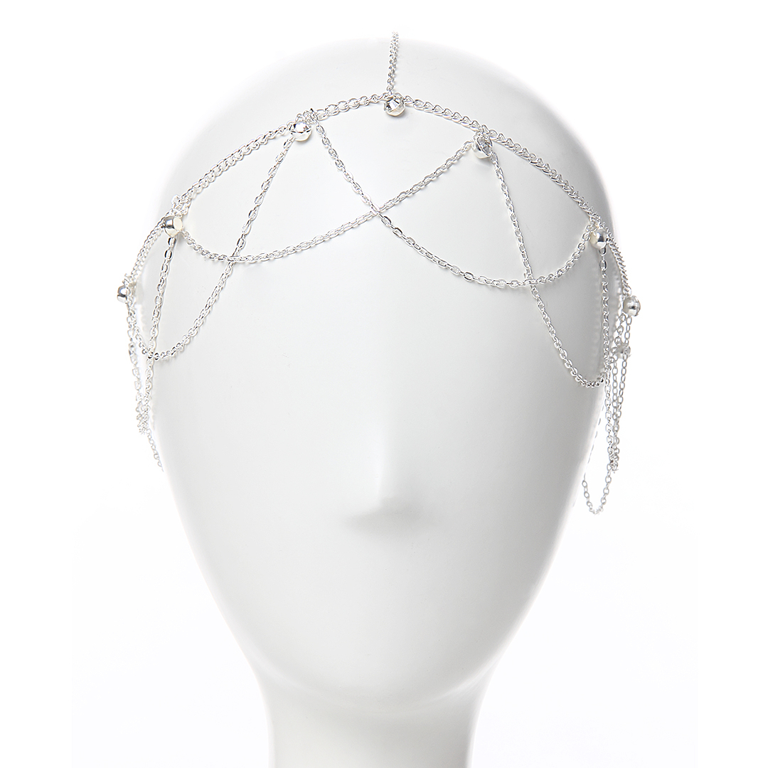 Sliver Embellished Diamond Head Accessory