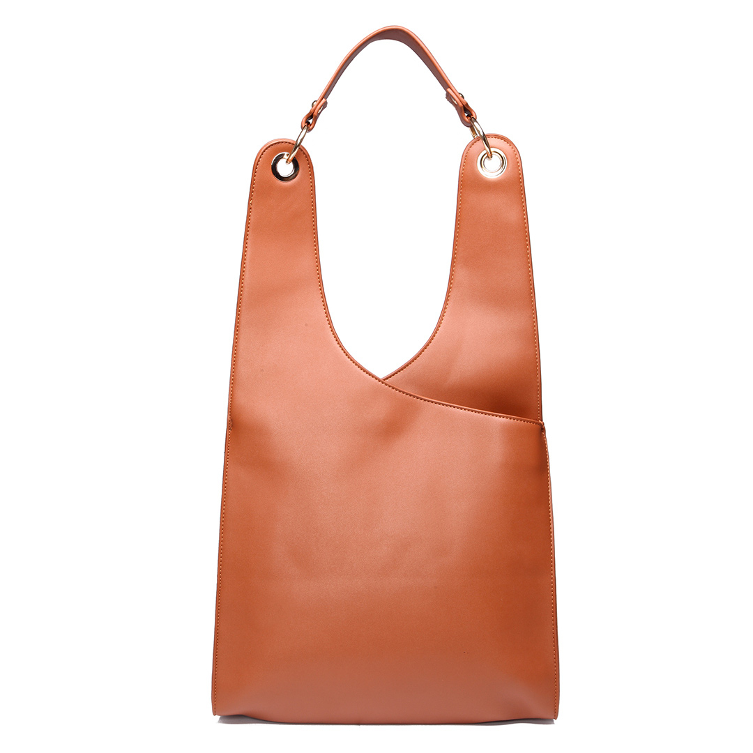 Brown Fashion PU Leather Shoulder Bag