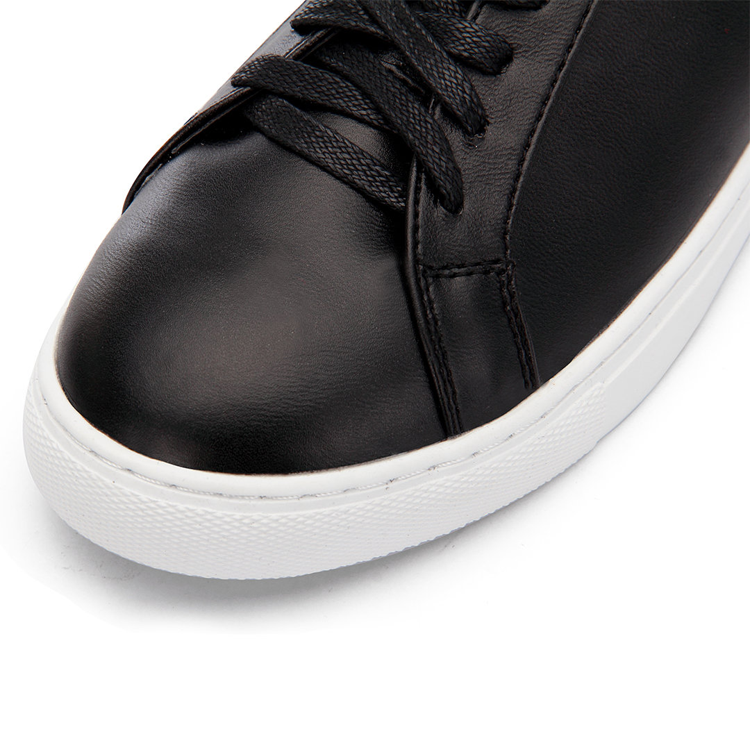 Black Leather Look Perforated Sneakers от Yoins.com INT