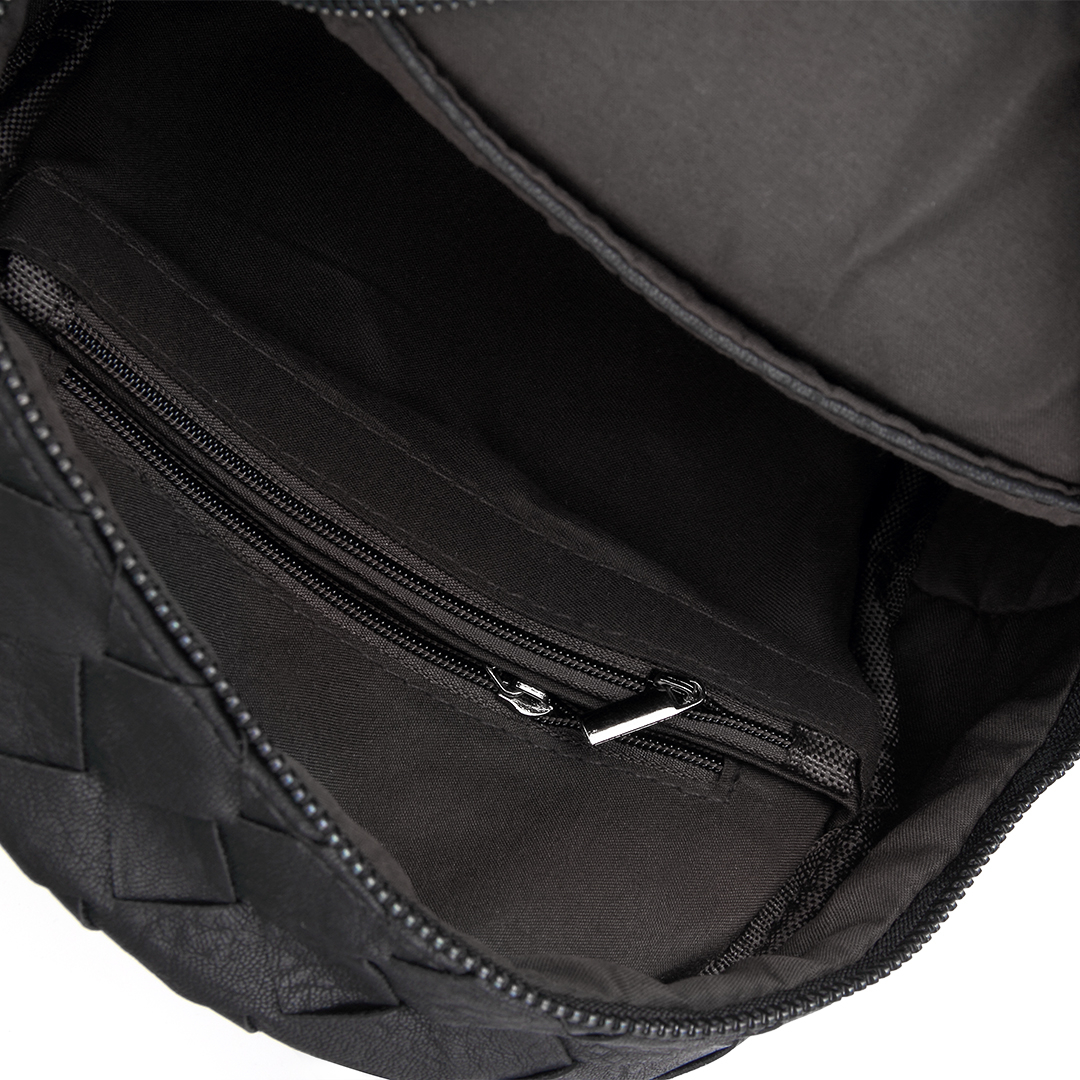 Woven Mini Backpack in Black от Yoins.com INT