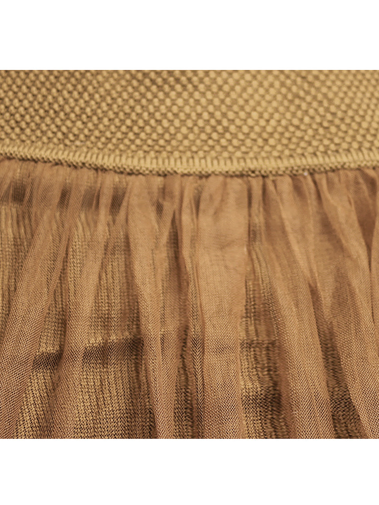 Brown Cable Jumper with Mesh Splice Back от Yoins.com INT