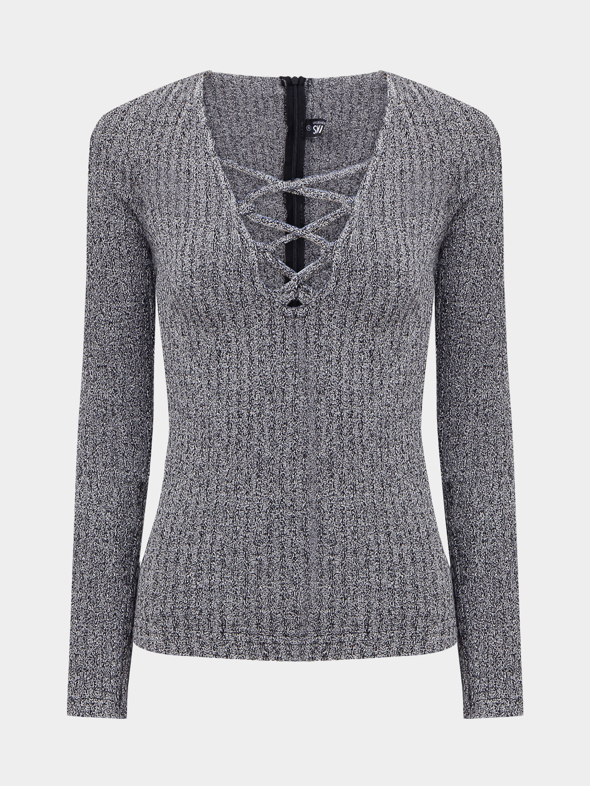 Charcoal Lace-up sweater