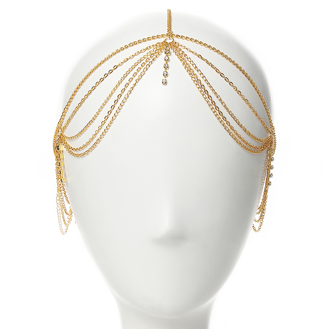 Draped Chain Head Piece
