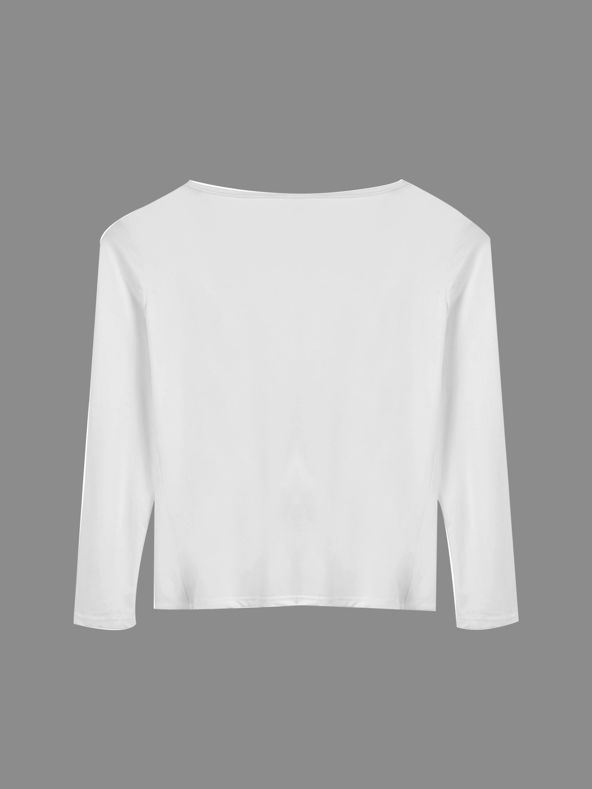 Long Sleeve Wrap Front Crop Top от Yoins.com INT
