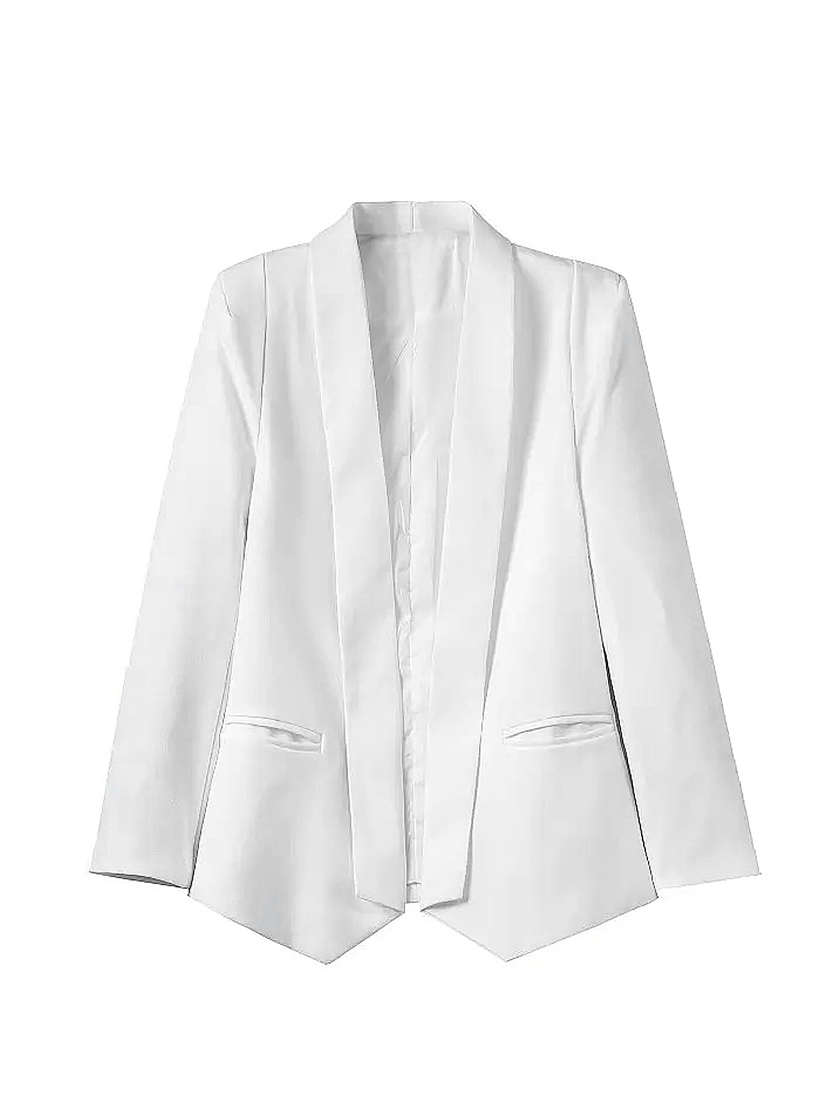 White Blazer with Collar Detail от Yoins.com INT